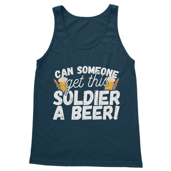Can Someone Get This Solder a Beer! Classic Women's Tank Top
