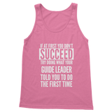 If At First You Don't Succeed Guide Leader Classic Women's Tank Top