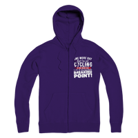 One More Day that I'm not Cycling is one more Day closer to my inevitable breaking point! Premium Adult Zip Hoodie
