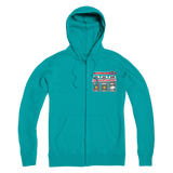 Weekend Weather Sunny With a Chance of Camping? Premium Adult Zip Hoodie