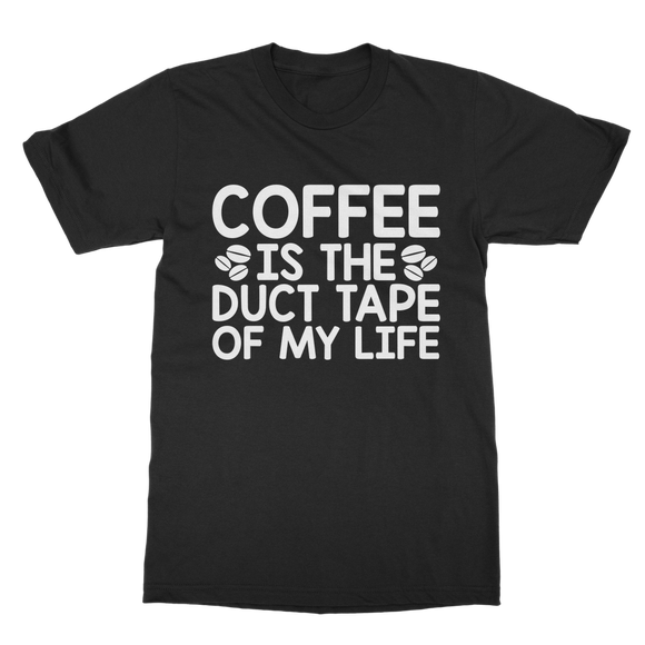Coffee Duct Tape Classic Adult T-Shirt