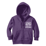 The Only Thing We Have To Fear is Fear Itself Oh and Not Being Able To Go Cycling! Classic Kids Zip Hoodie