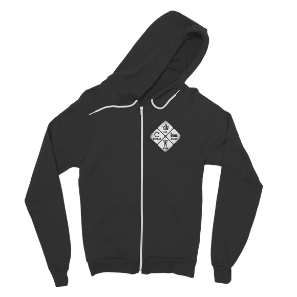 Eat, Sleep, Gym, Repeat Classic Adult Zip Hoodie