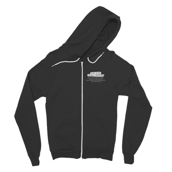 Some Of My Favorite Things Are Cycling Classic Adult Zip Hoodie