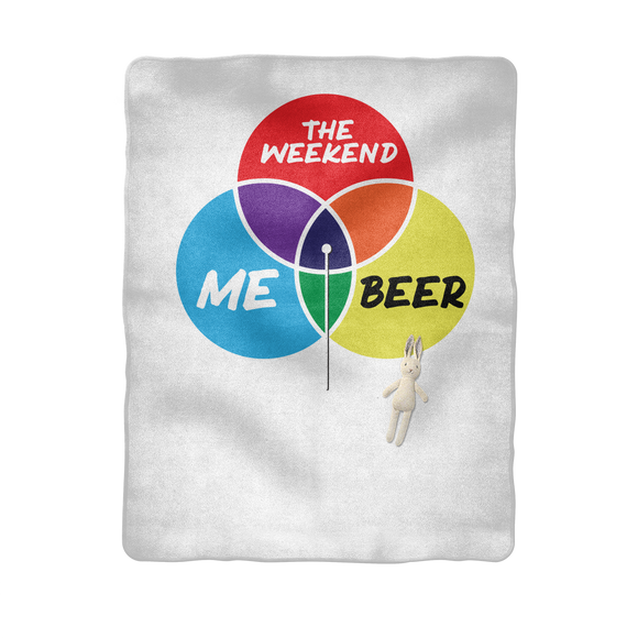 Beer is My Happy Place Sublimation Baby Blanket