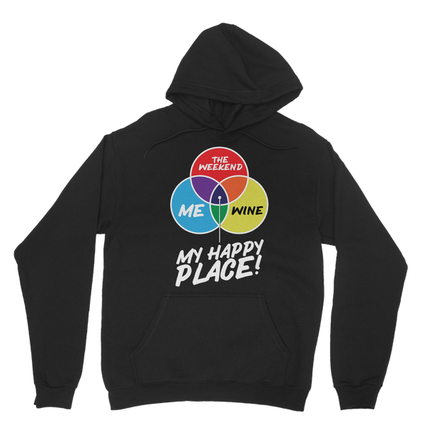 Wine is My Happy Place Classic Adult Hoodie