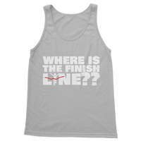 Where Is The Finish Line? Classic Adult Tank Top