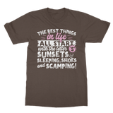 All The Best Things in Life Start With The Letter S - Camping T-Shirt Classic Adult T-Shirt