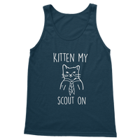 Kitten My Scout On Classic Adult Tank Top