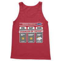 Weekend Weather Sunny With a Chance of Tacos? Classic Women's Tank Top