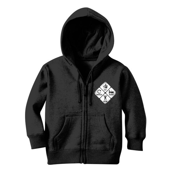 Eat, Sleep, Gym, Repeat Classic Kids Zip Hoodie