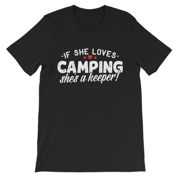 If She Loves Camping She's a Keeper! Classic Kids T-Shirt