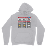 Weekend Weather Sunny With a Chance of Beer? Classic Adult Hoodie
