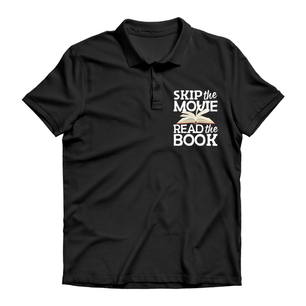 Skip the Movie Read the Book Premium Adult Polo Shirt