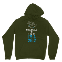 On A Scale Of 1 To 10 Marathon Runner Classic Adult Hoodie