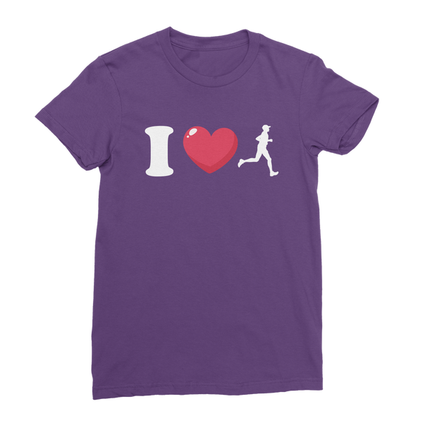 I Love Running Male Runner Classic Women's T-Shirt