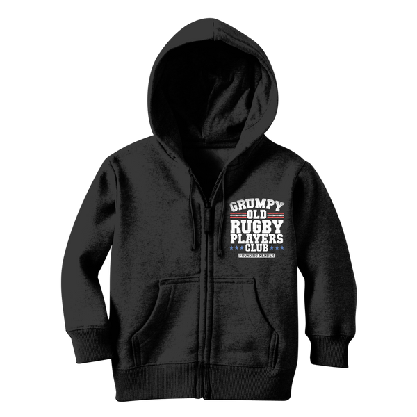 Grumpy Old Rugby Club Founding Member Classic Kids Zip Hoodie