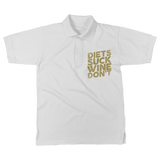 Diets Suck Wine Don't Classic Women's Polo Shirt