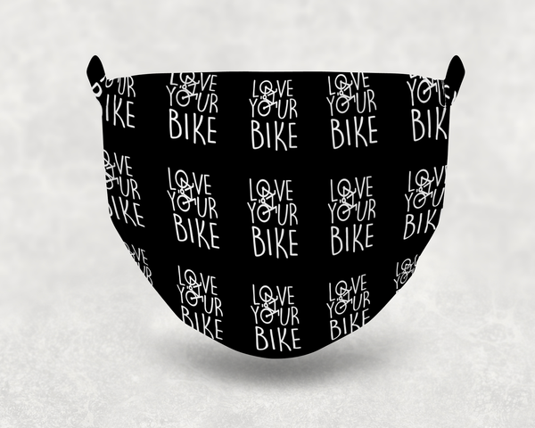 Love Your Bike Sublimation Face Mask