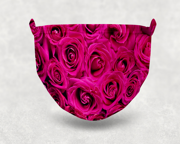 Pink Roses Sublimation Face Mask