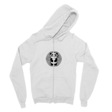 Bamboo Pete Silver Floral Fine Jersey Zip Hoodie