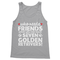 Who Needs Friends When You Can Have Seven Golden Retrivers! Softstyle Tank Top - Challenge The Norm