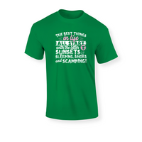 All The Best Things in Life Start With The Letter S - Camping T-Shirt - Challenge The Norm