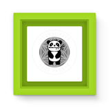 Bamboo Pete Silver Floral Magnet Frame