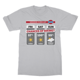Weekend Forecast Biking Cycling Softstyle Ringspun T-Shirt - Challenge The Norm