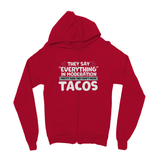 Everything In Moderation Not Tacos Kids' Zip Hoodie
