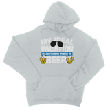 My Ideal Vacation Is Anywhere There Is Beer College Hoodie