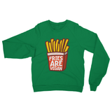 Fries Are Vegan Heavy Blend Crew Neck Sweatshirt