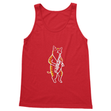 Cat Playing Saxophone (Saxocat) Softstyle Tank Top