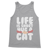 Life is Short Hug A Cat Softstyle Tank Top - Challenge The Norm