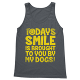 Todays Smile Is Brought To You By My Dogs Softstyle Tank Top - Challenge The Norm