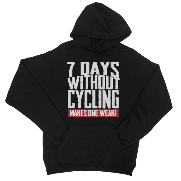 7 Days Without Cycling Makes One Weak Hoodie - Challenge The Norm