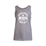 Never Judge A Run by its First Mile Tank Top - Challenge The Norm