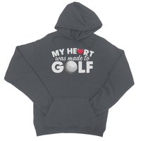 My Heart Was Made to Golf College Hoodie - Challenge The Norm