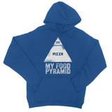 My Food Pyramid... Pizza College Hoodie - Challenge The Norm