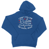I Don't follow Rules I follow Labradors on Social Media College Hoodie - Challenge The Norm