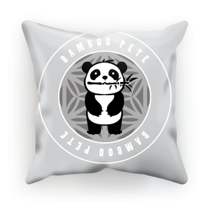 Bamboo Pete Silver Floral Cushion