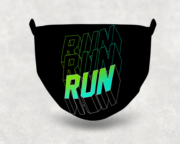 Run Run Run Sublimation Face Mask