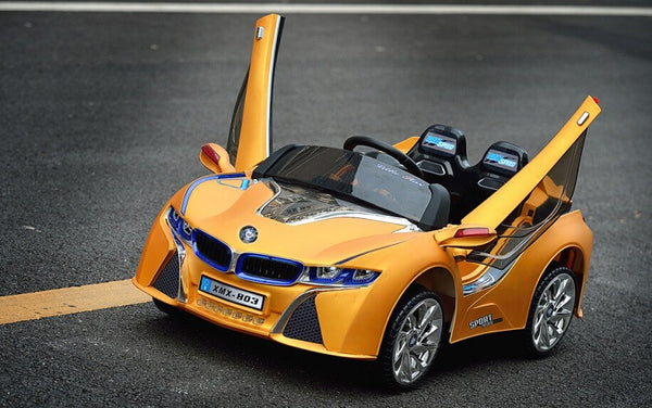 BMW i8 Style Ride On Car Power Wheels For Kids With Remote Control | Yellow