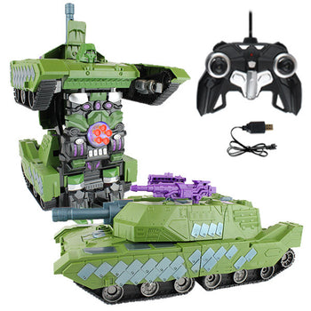 Green Robot Tank Remote Control Transforming Autobot
