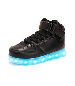 Shoes LED USB Charge Sneakers Black High Tops