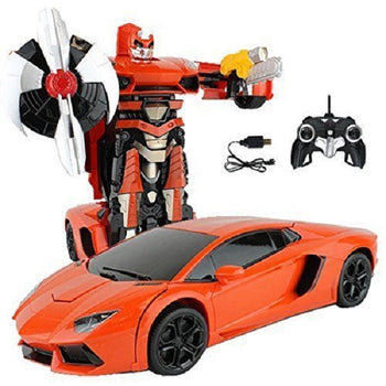 Red Remote Control Lamborghini Car Transforming Autobot - On My Wheels