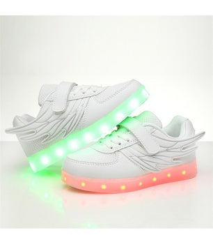 Kids Led Shoes Sneakers White