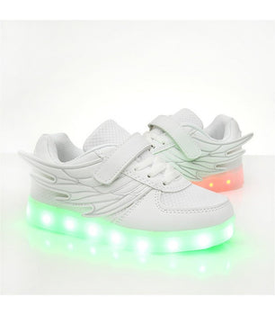 Kids Led Shoes Sneakers White Low Top