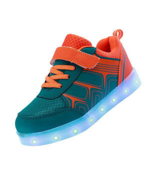 Kids Led Sneakers Light Up Shoes USB Blue