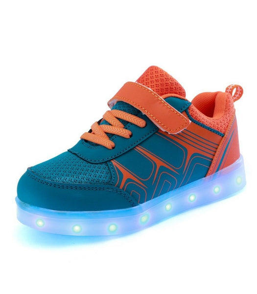 Kids Led Sneakers Light Up Shoes USB Charge | Blue